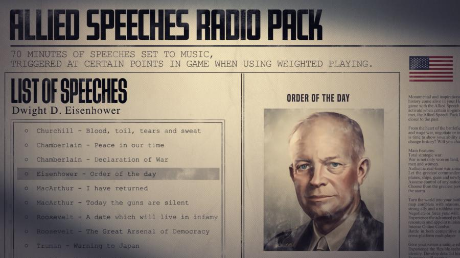 Hearts of Iron IV - Allied Speeches Music Pack (DLC) Screenshot 4