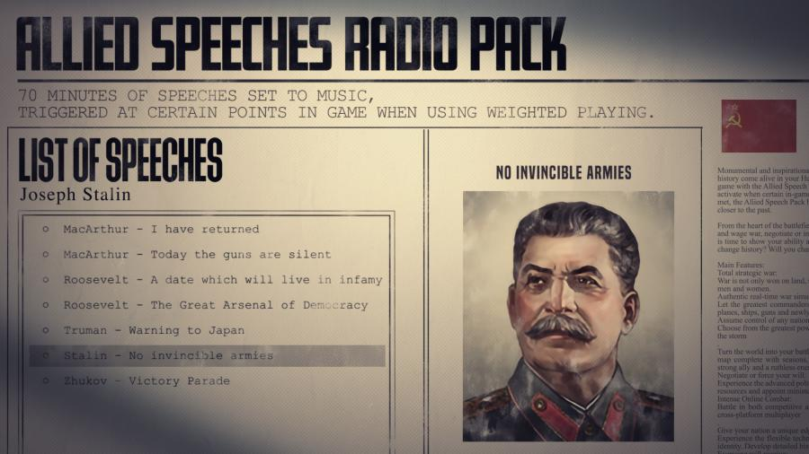 Hearts of Iron IV - Allied Speeches Music Pack (DLC) Screenshot 7