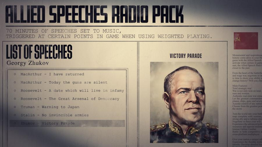 Hearts of Iron IV - Allied Speeches Music Pack (DLC) Screenshot 9