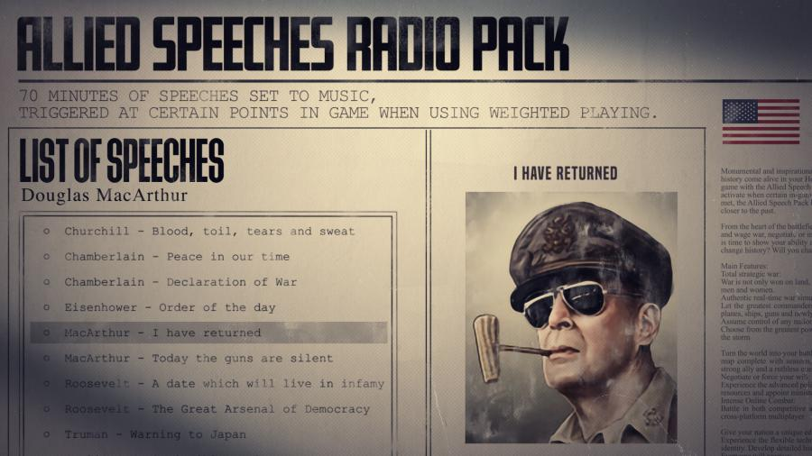 Hearts of Iron IV - Allied Speeches Music Pack (DLC) Screenshot 5